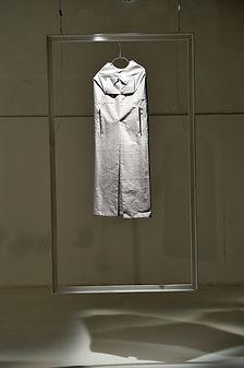origami dress displayed