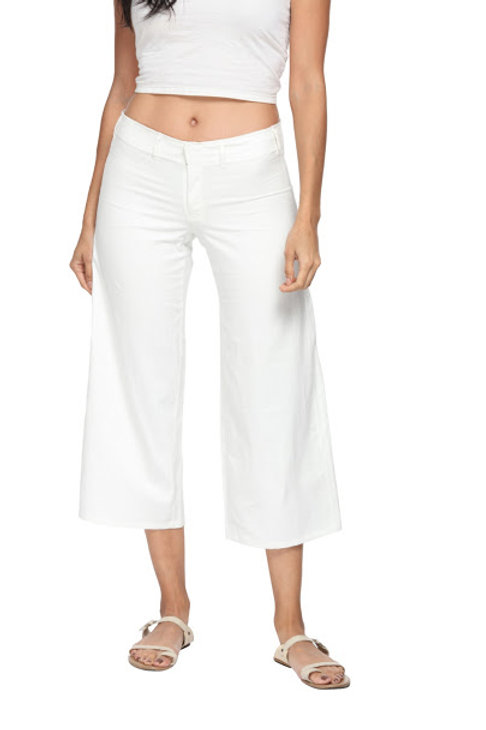Crop Pants in Banana Cotton