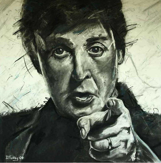 Paul McCartney Charcoal