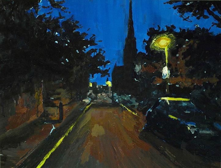 Oxton at night