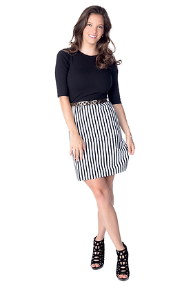 Color Block Striped Sheath Dress