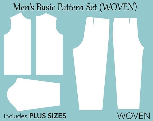 Men's Woven Sewing Pattern Set  XS-6X