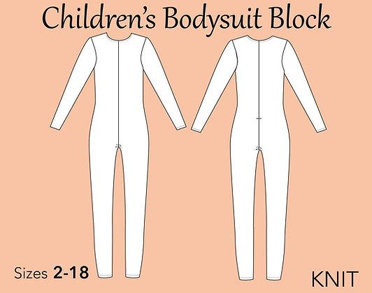 Children's Bodysuit Block Sewing Pattern Sizes 2-18