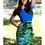 Thumbnail: Colorblock Tropical Print Dress