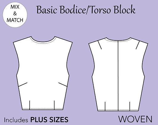 Women's Bodice Block/torso Pattern