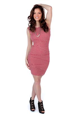 Stripe Bandage Dress