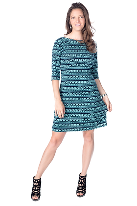 Chainlink Print Sheath Dress