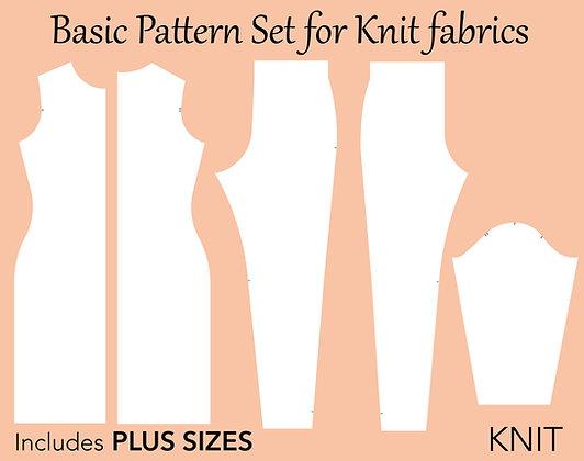 Women's Basic Knit Block Sewing Pattern XS-6X