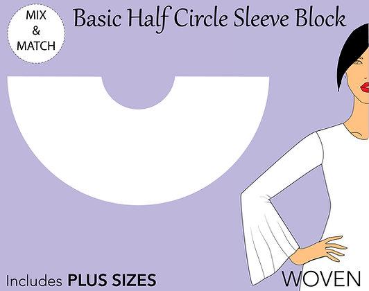 Women's Half Circle Sleeve Pattern