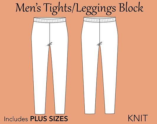 Men's Tights/Leggings Block Sewing Pattern XS-6X
