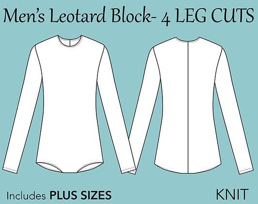 Men's Leotard Block Sewing Pattern XS-6X