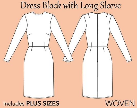 Women's Dress Block Sewing Pattern XS-6X