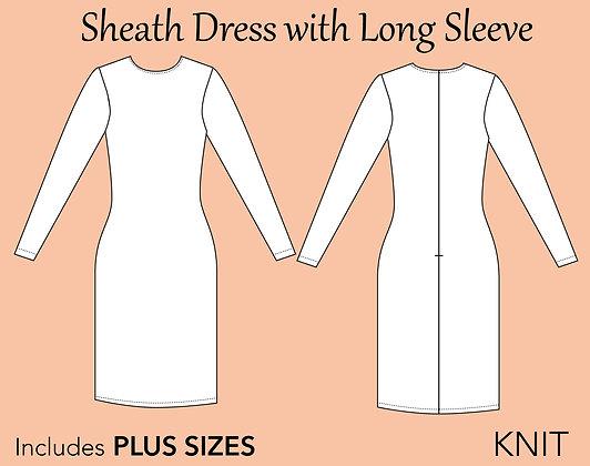 Women's Knit Dress Block Sewing Pattern XS-6X