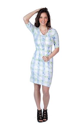 Hand Painted Splatter Print Dress