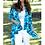 Thumbnail: Blue Camouflage Print Cardigan
