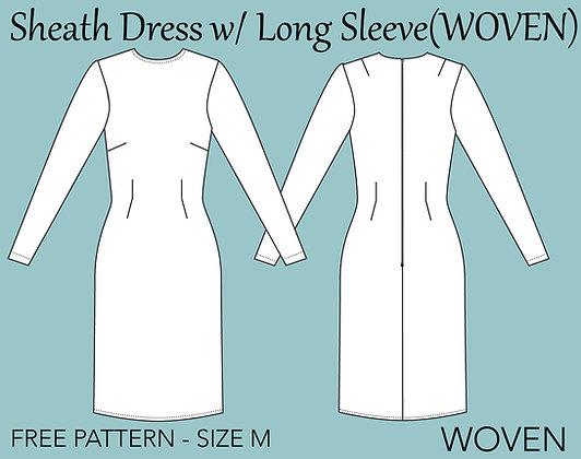 Women's Sheath Dress Sewing Pattern Size M