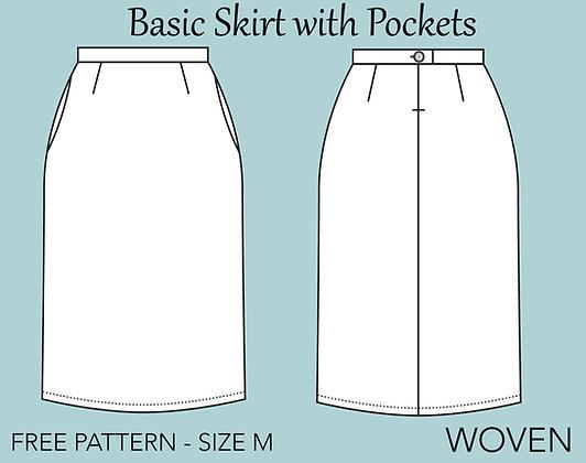 Women's Basic Skirt Block Sewing Pattern Size M