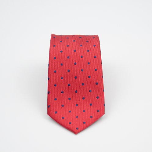 Krawatten aus Seide für Herren.Handgefertigte.Punkt. Rote. Ca. 6x145cm.