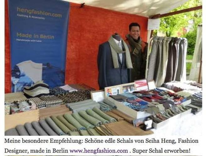 Heng Fashion Team in local News Seite. Heng Fashion. Made in Berlin.