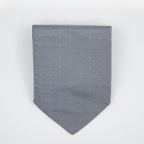 Ascot Tie made of cotton blend cir. 15x100cm. Suitable for tuxedo or shirt. Grey