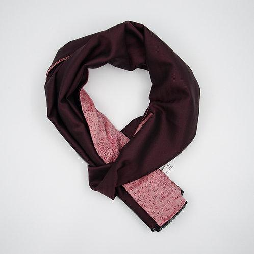 Wolle Schal für Herren Anzug oder Jacket ca.27x200cm.Herringbone+Grafik.Weinrot