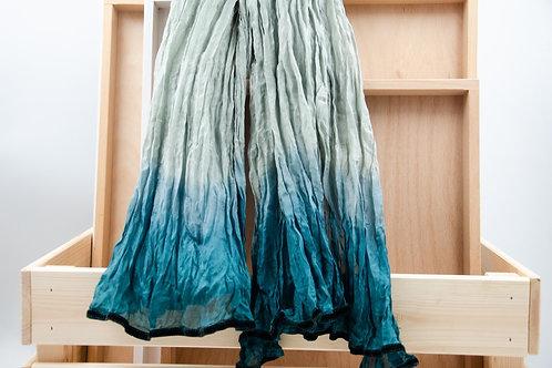 Schal für Frauen. Seidenschal für Frauen. Tie dye Seidenschal.