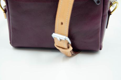 Small Crossbody/Shoulder Leather Bag. Handmade in Berlin. Fair and Local Designer Bag. Violet