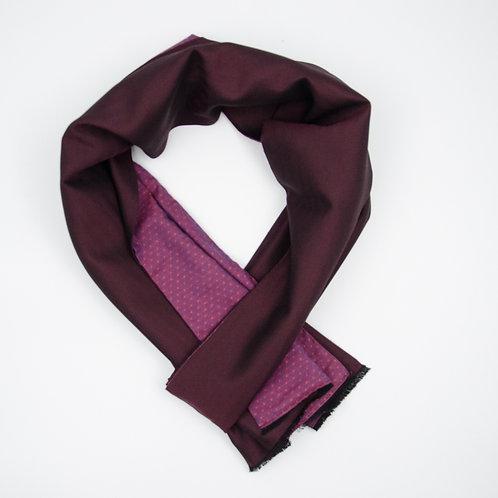 Wolle Schal für Herren Anzug oder Jacket ca.27x200cm.Herringbone.Weinrot