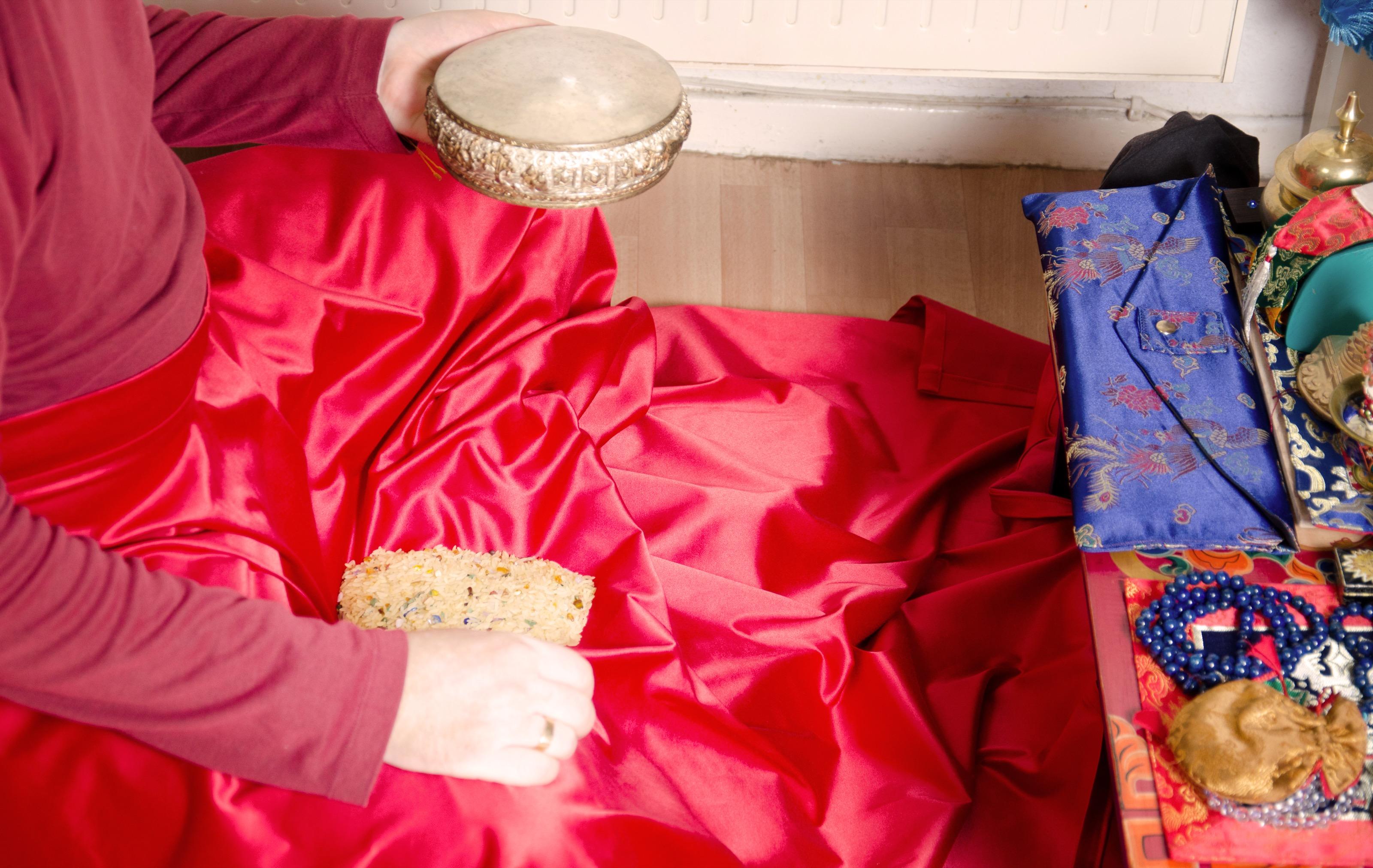 Mandalscheibe Reis und die Schürz