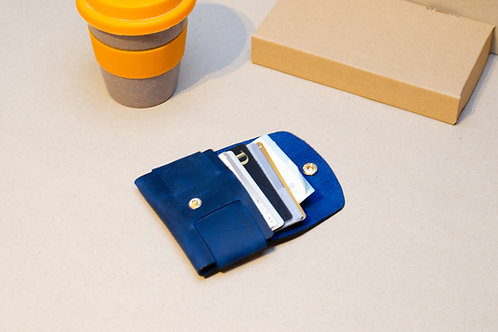 Schlanke Geldbörse. Kleine Leder Brieftasche. Schlanke Brieftasche (Unis
