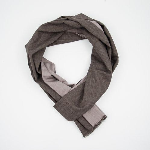 Wolle Schal für Herren Anzug oder Jackett.Handarbeit. Schoko Braun