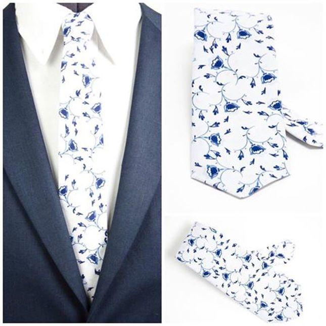 Krawatten auf gedrückt Blumen Motif für modernen Gentleman. Heng Fashion. Made in Berlin