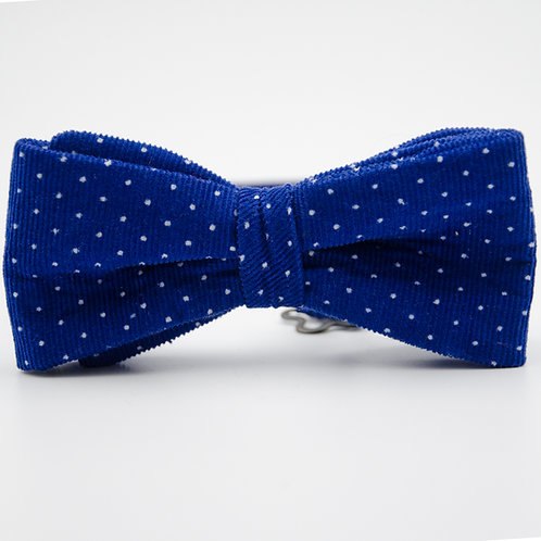 Bowtie for men approx. 6x12cm. Adjustable and pre-tied. Blue + Cord