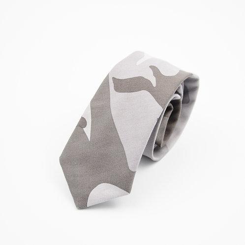 Krawatten für Herren aus Baumwolle.Handgefertigte.Camouflage. Grey