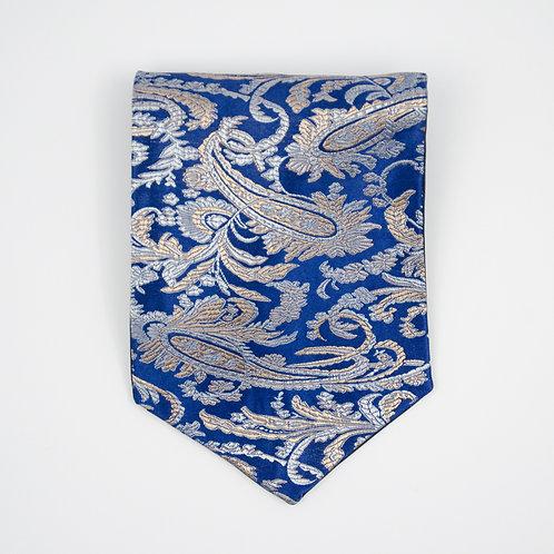 Blau Paisley Krawattenschal. Ca. 15x100cm.
