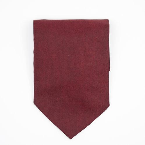 Ascot Tie made of cotton blend cir. 15x100cm. Suitable for tuxedo or shirt. Bordeaux Red
