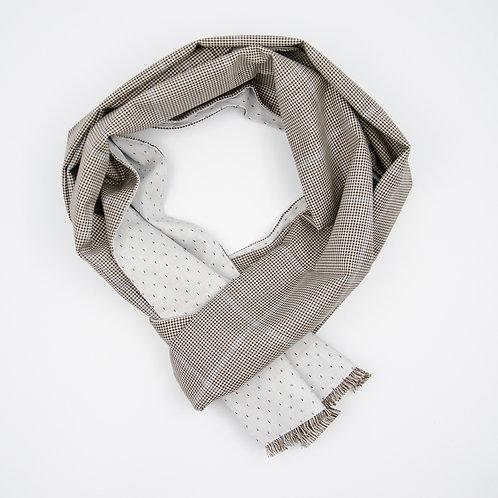 Wolle Schal für Herren Anzug oder Jackett.Handarbeit. Schwarz + Vichy