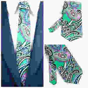 Paisley Krawatten für modern Herren. Schick und Elegant. Heng Fashion. Made in Berlin