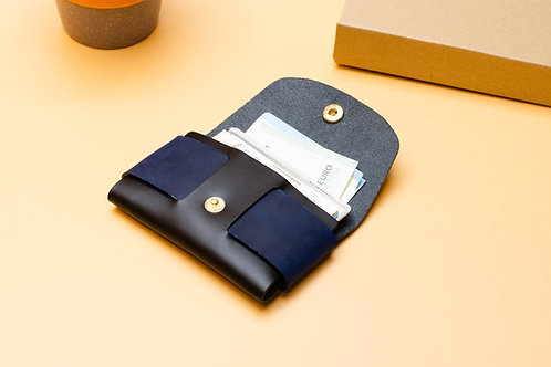 .Kleine Leder Brieftasche.Schlanke Brieftasche (für Herren /Damen)Zwei F