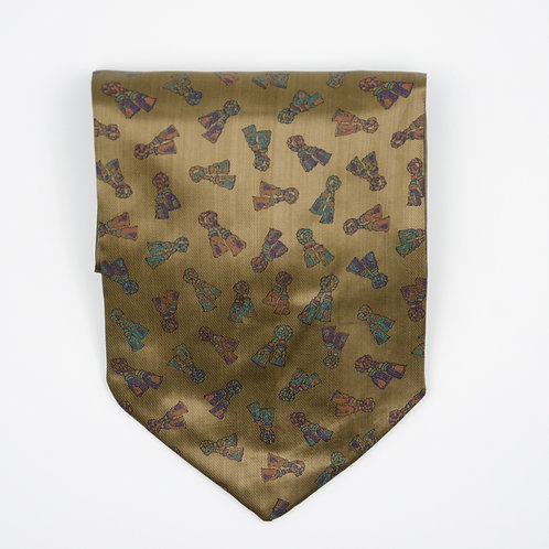 Ascot Tie made of cotton blend cir. 15x100cm. Suitable for tuxedo or shirt. Gold