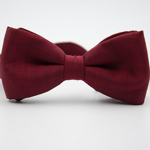 Silk bowtie for men suit/shirt. Pre-tied. Approx. 6x12cm.Red