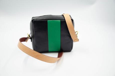 Small Crossbody/Shoulder Leather Bag. Handmade in Berlin. Fair and Local Designer Bag.