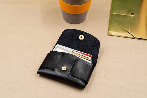 Schlanke Brieftasche (für Herren /Damen). Kleine Leder Brieftasche.