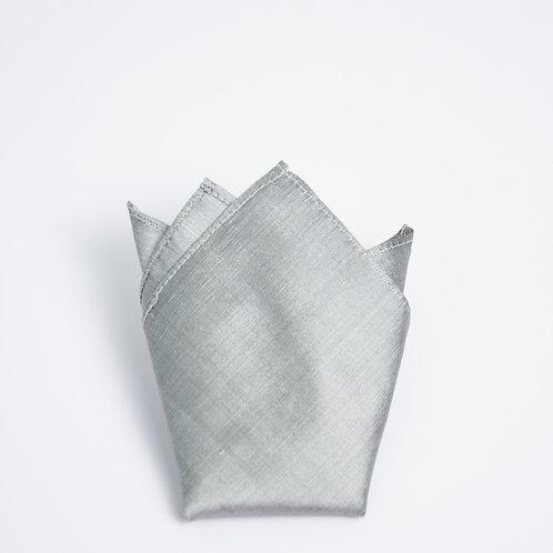 Silber Seide Einstecktuch. Ca. 28 x28cm.