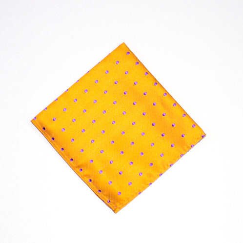 Square made of jacquard silk cir.25x25cm. Polka Dot. Orange