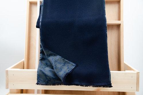 Herren Schal für Sakko/Anzug. Wolle Schal für Herren. DunkelBlau+Paisley