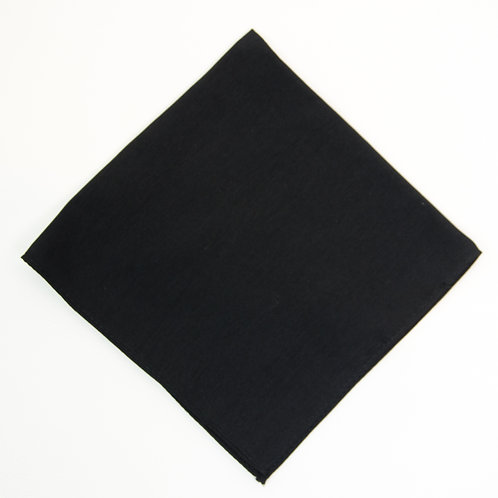 Pocket square made of cotton blend cir. 28x28cm. Handmade in Berlin. Black