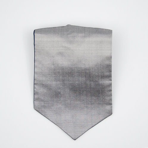 Ascot Tie made of cotton blend cir. 15x100cm. Suitable for tuxedo or shirt. Silver