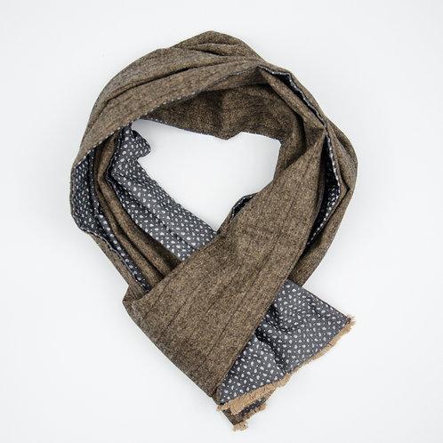 Wolle Schal für Herren Anzug oder Jacket ca.27x160cm.Paisley.Braun+Grau