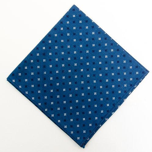 Pocket square made of cotton blend cir. 28x28cm. Handmade in Berlin. Diamond Print. Blue